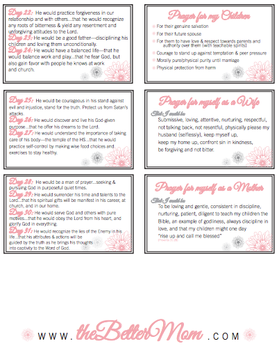 Organize Your Prayer Time {Free Printable Prayer Cards}