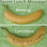 Secret Lunch Message On Bananas