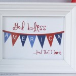 4th Of July Art For Framing {Free Printable}