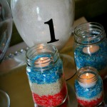 DIY 4th Of July Festive Rice Jars