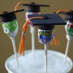Simple Graduation Favor With Blow Pop Suckers