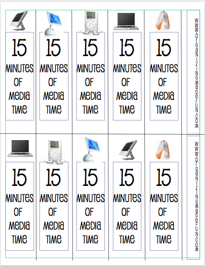 It is a photo of Gratifying Printable Screen Time Charts