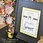 Candy Stripe Count Down Calendar {free printable}