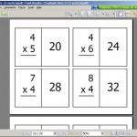 Math Flash Cards {Free Printable}