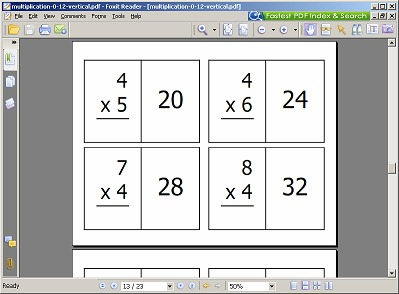 math flash cards free printable 24 7 moms. Black Bedroom Furniture Sets. Home Design Ideas