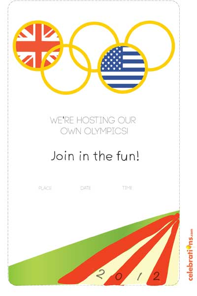 FREE Olympic Party Invitations and Printables 247 Moms