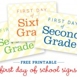 First Day Of School Printables for Picture Taking