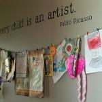 DIY Moms: Simple Kids Art Display