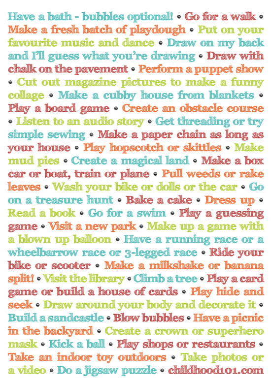 things to do instead of turning on the tv and it s printable 24