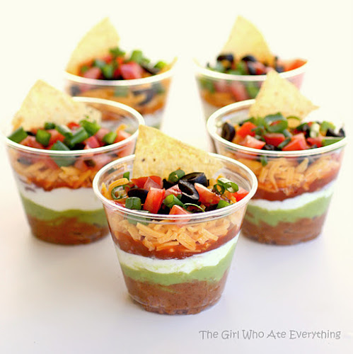 Individual Seven Layer Dip Cups