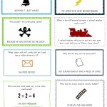 Free Printable Lunch Box Notes and Jokes