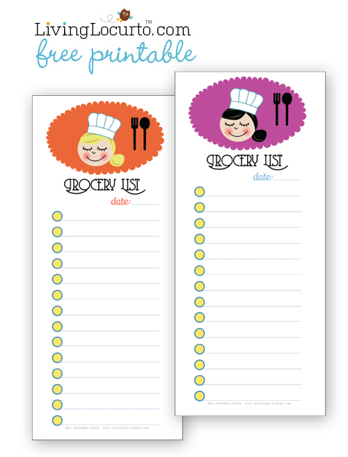 Free Grocery List Printable   Moms