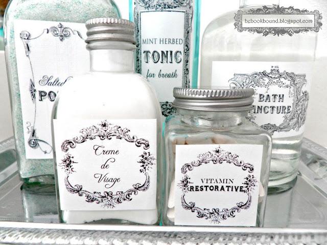 Diy vintage toiletry bottles 24 7 moms for Classic house labels