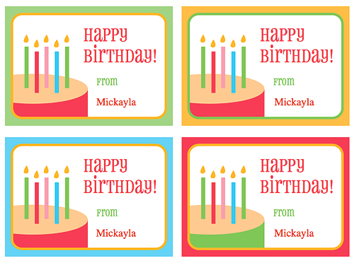 Dynamite image within printable birthday gift tags
