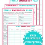 Free Emergency Kit Printables