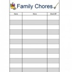 Family Chore Charts {Free Printables}