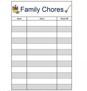 photograph regarding Family Chore Chart Printable titled Spouse and children Chore Charts Cost-free Printables - 24/7 Mothers