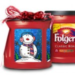 DIY Holiday Canister With Folgers Coffee Canisters