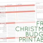 FREE Christmas Budget Printable