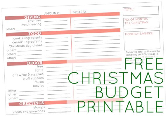 Christmas Budget Planner Akbaeenw