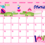 Free Full Color 2013 Calendar Printables