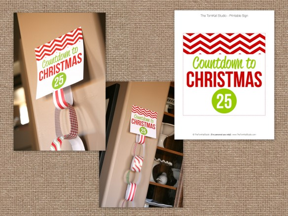 Paper Chain Christmas Advent Countdowns {Free Printable} - 24/7 Moms