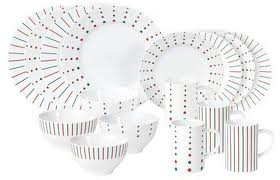 Mikasau0027s Christmas Cheers 16 Piece Dinnerware Set with Dots u0026 Stripes  sc 1 st  24/7 Moms & WIN - Mikasau0027s Christmas Cheers Dinnerware Set with Dots u0026 Stripes ...