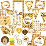 Thanksgiving Printable Party Package…FREE!