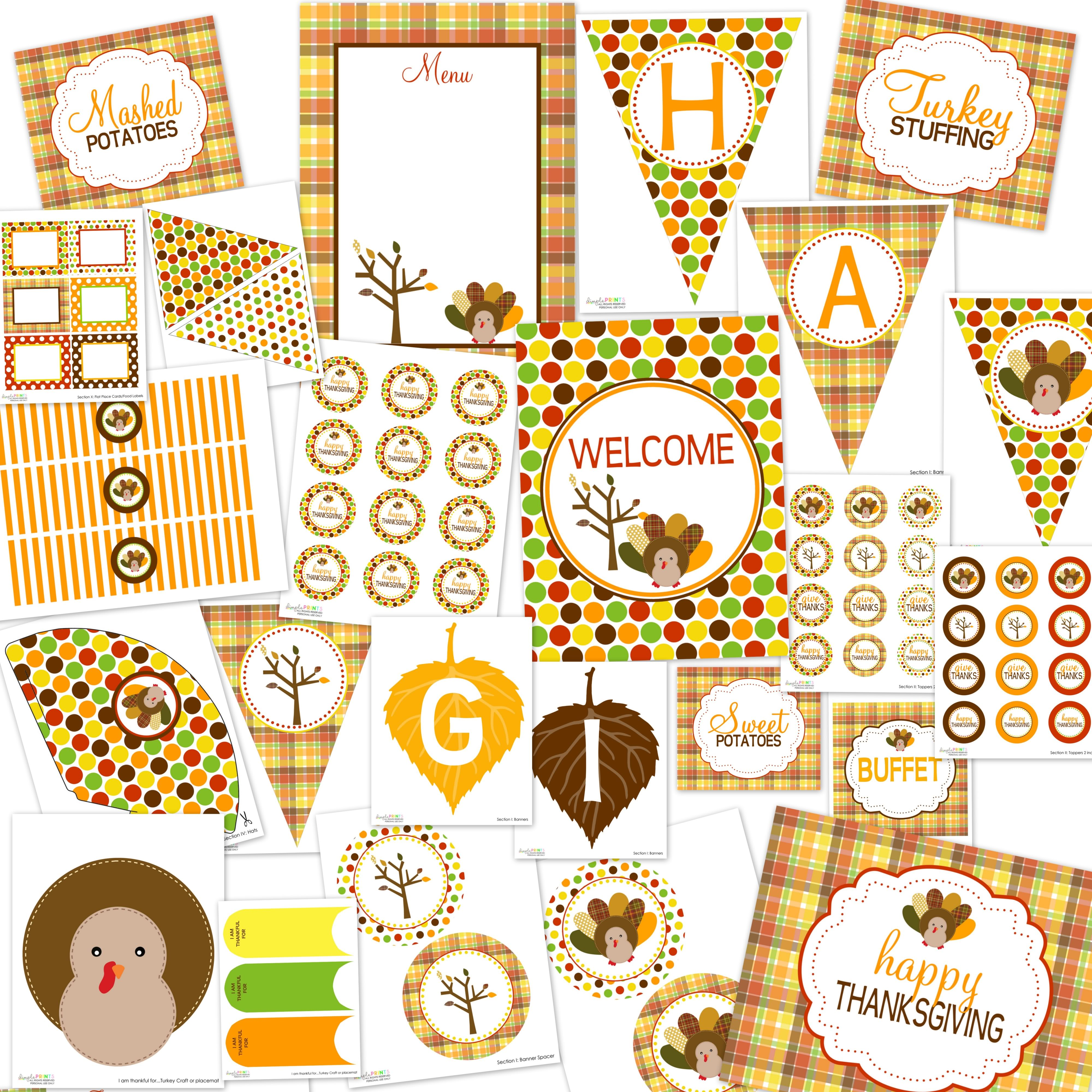 Thanksgiving Printable Party Package…FREE! - 24/7 Moms