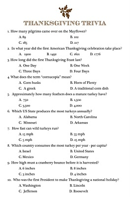 picture regarding Thanksgiving Trivia Printable known as 2 Thanksgiving Trivia Printables - 24/7 Mothers