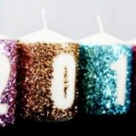 DIY Glitter New Years Candles
