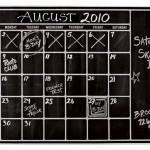 A DIY Chalkboard Calendar