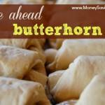 Freezer Cooking For The Holidays – Butterhorn Rolls