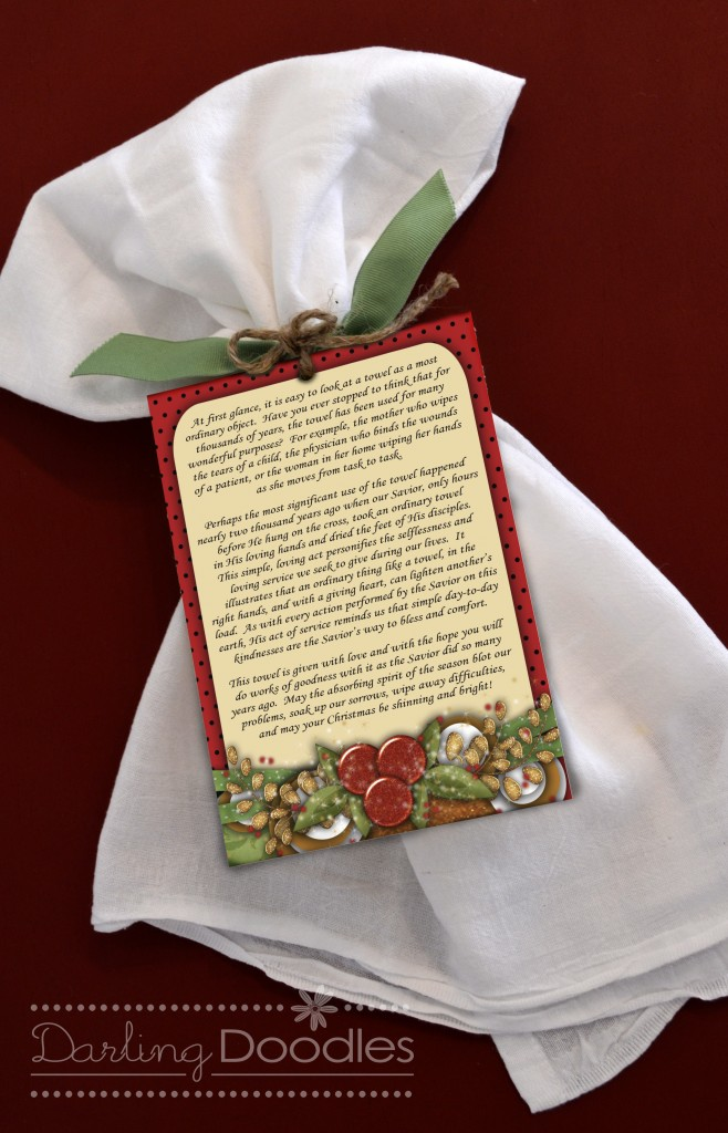 Christmas towel poem simple gift for giving 247 moms i recently hosted a christmas party in my home for my mom group and i wanted to give each mom a simple yet meaningful gift to them as a party favor negle Images