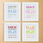 DIY Frame-able Birth Announcements