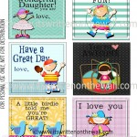 48 FREE Lunchbox Notes For Kids