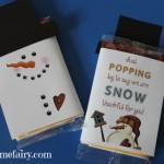 Snowman Popcorn Wrapper – FREE Printable!