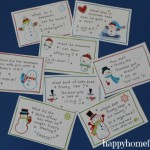 FREE Snowman Lunch Box Notes