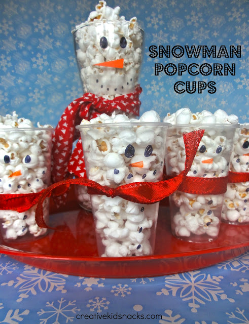 jogos de decorar arvores de natal no click jogos:Creative Kid Snacks Snowman Popcorn Cups