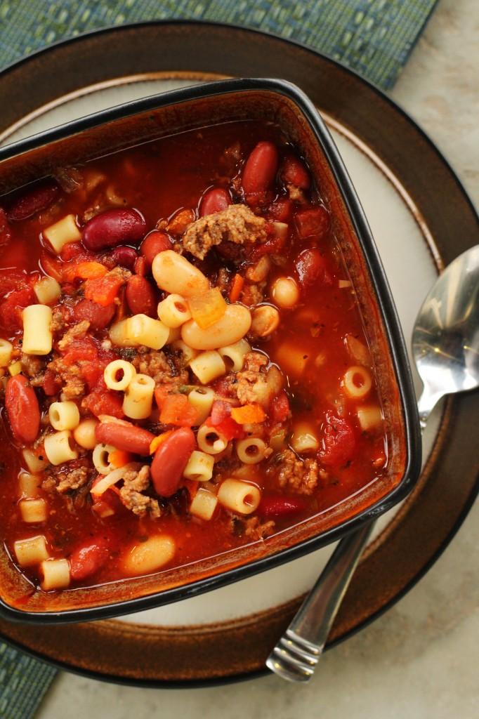 Crock Pot Pasta E Fagioli Soup - Olive Garden Taste A Like - 24/7 Moms