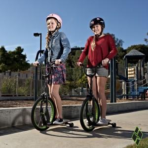 Sbyke image with girls riding