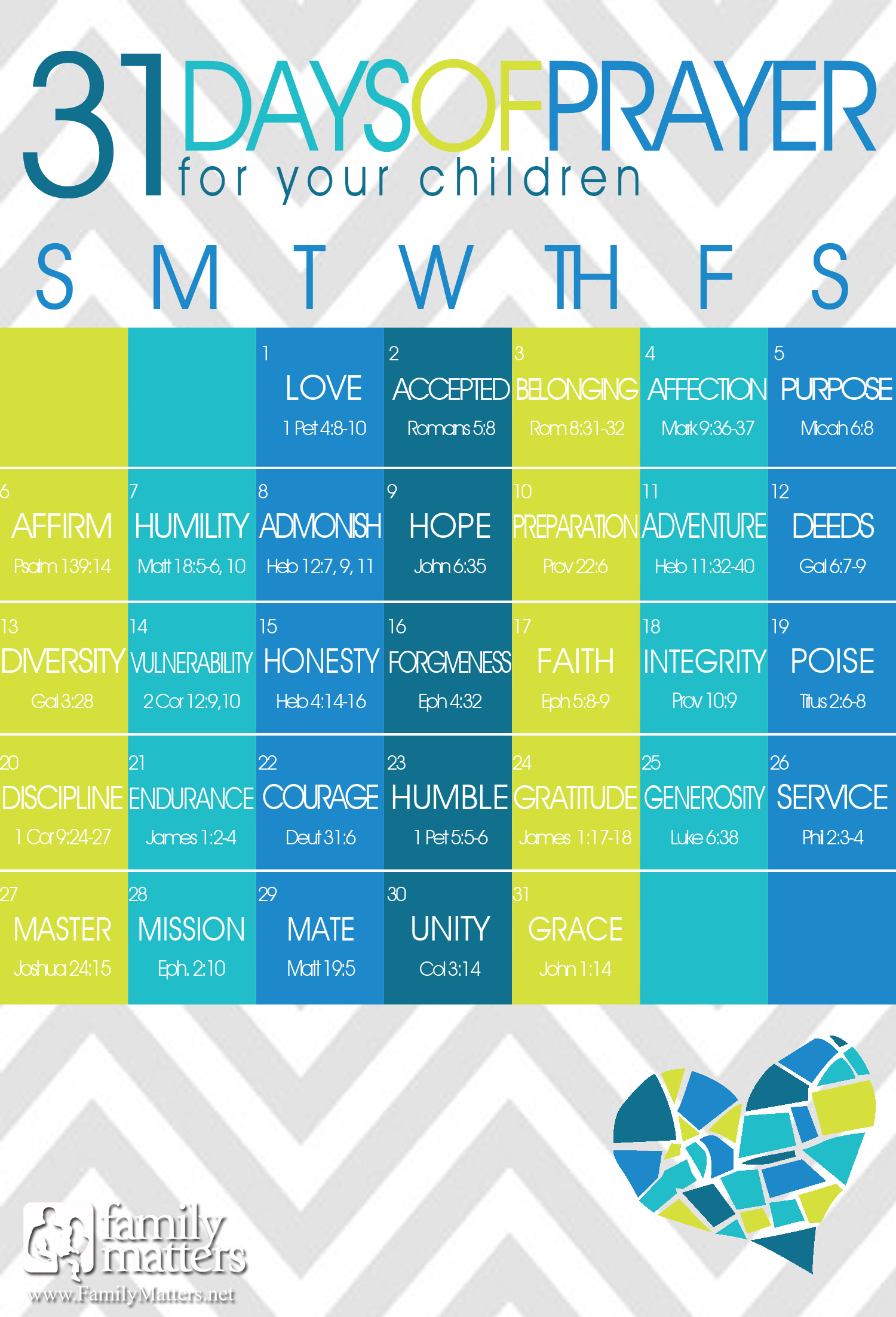 31 Days Of Praying For Our Kids - 24/7 Moms