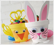 Decorate Your Home With These Adorable Sweet Filled Bunny And Chick Pots Or Use Them As Table Favors Teacher Gifts This Easter The DIY Instructions