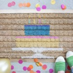 DIY Birthday Cake Door Mat