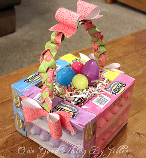 Diy edible easter baskets 247 moms use peeps to make these fun baskets for easter with the step by step instructions from one good thing by jillee negle Gallery