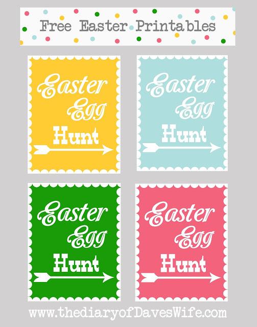 Free Easter Egg Hunt Signs 24 7 Moms