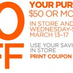 DEAL:  $10 Off $50 JC Penney Coupon