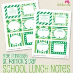 FREE  St. Patrick's Day school lunch notes