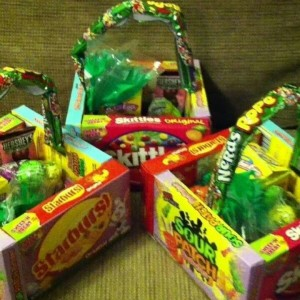 Diy edible easter baskets 247 moms use movie theater size candy boxes to create this edible easter basket no credit was found for picture negle Gallery