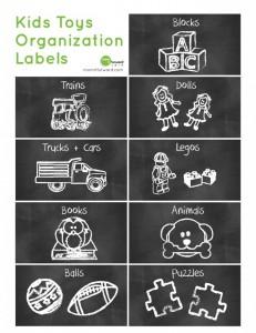 kids organization labels
